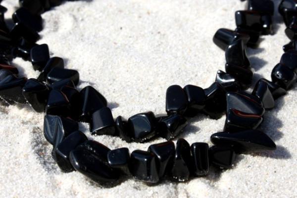 Onyx, Splitterstrang, schwarz