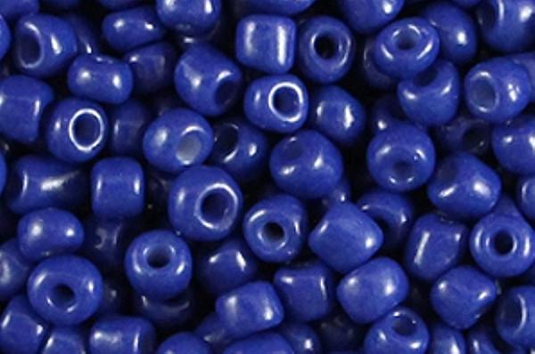 Rocaille, rund, indigo blue, 15gr, 6/0, 4mm