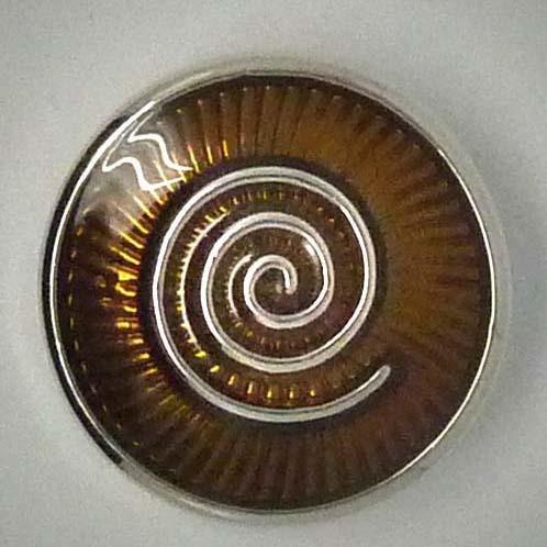 Druckknopf, Schnecke/Spirale, rehbraun, ca. 20mm
