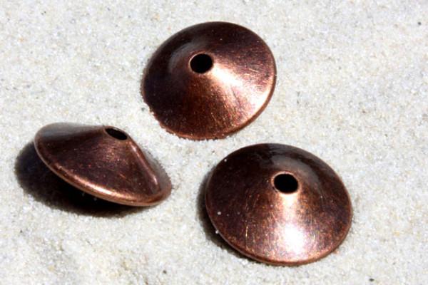 Acrylperlen, Scheiben, kupfer, 16mm