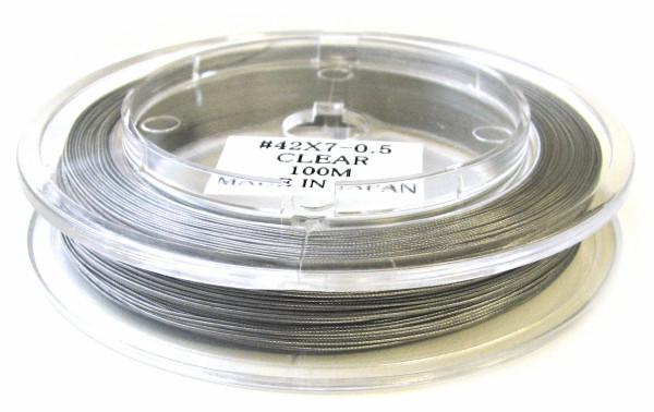 Stahlseil Premium, nylonummantelt, silbergrau, 0.45mm
