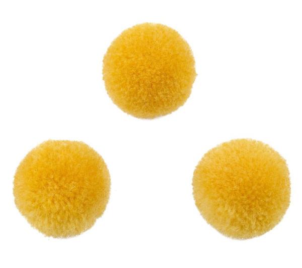 Pompons, rund, gelb, ca. 20mm