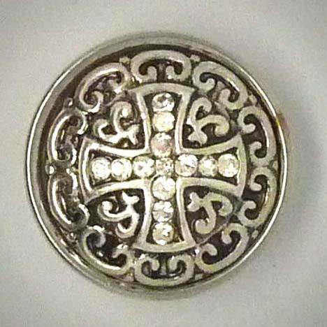 Druckknopf, gleichmäßiges Kreuz aus Strass, ca. 18mm