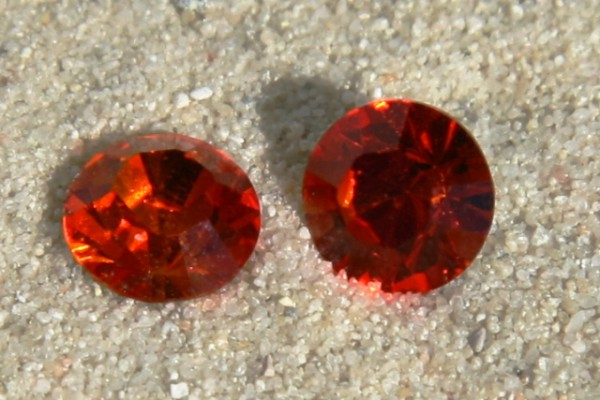 SWAROVSKI® ELEMENTS Chaton 1028 ss29, Fire opal, 6mm