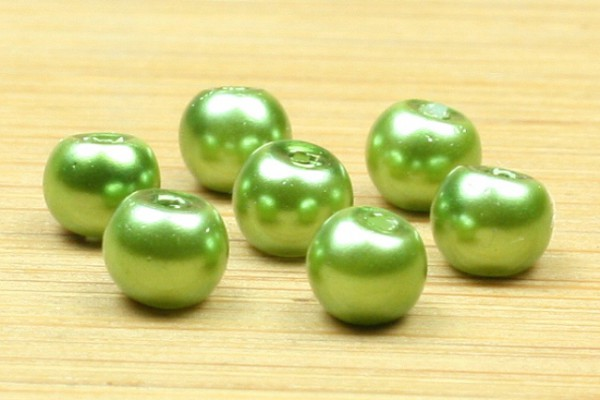 Glaswachsperlen, grün, 4mm
