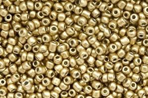 Saatperlen, rund, Goldfarben, 15gr., 2mm (12/0)