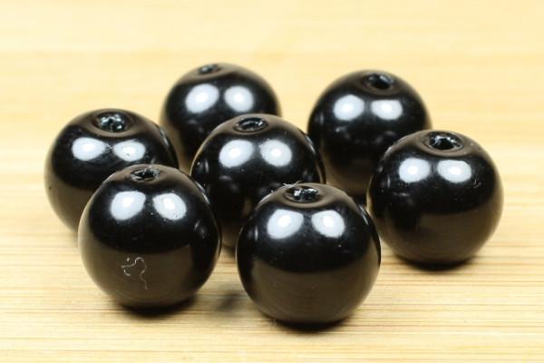 Glaswachsperlen, schwarz, 8mm