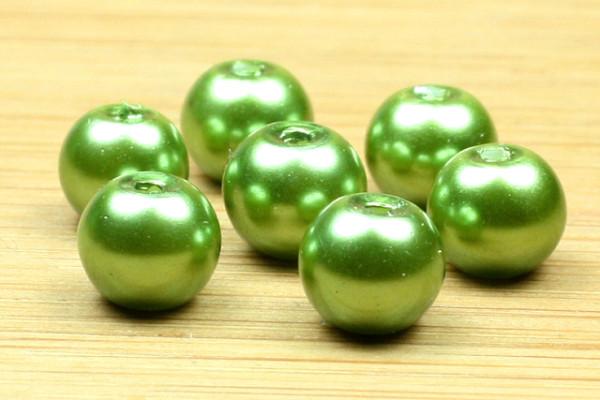 Glaswachsperlen, grün, 6mm