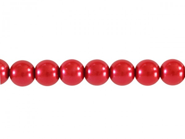Glaswachsperlen, rot, 8mm