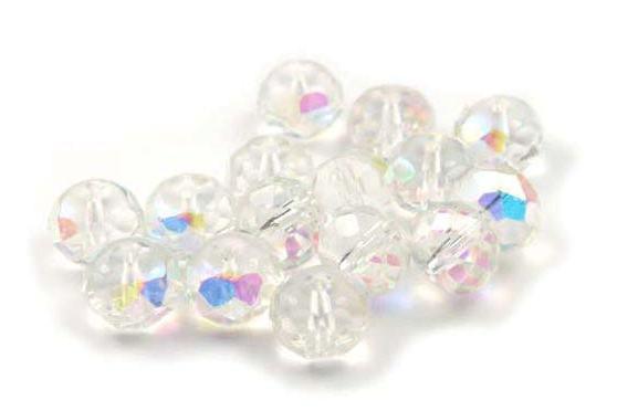 Kristallperlen, Rondelle, crystal AB, 8x10mm