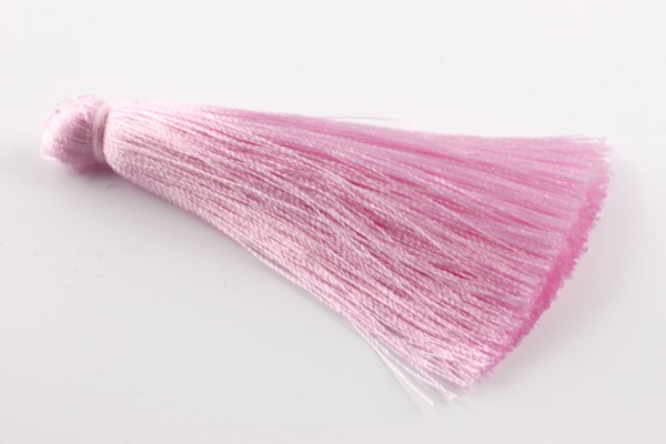 Seidenquaste, dick, rosa, 7cm