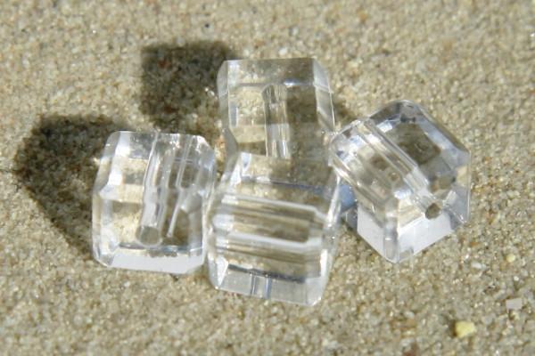 Kristallglaswürfel, transparent, 6x6mm