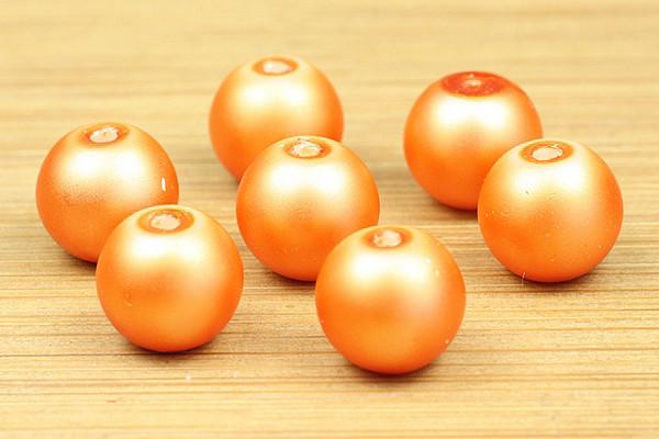 Glaswachsperlen, mandarine matt, 8mm