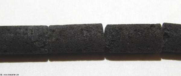 Strang Lava Walzen, schwarz, offenporig, 16x8mm