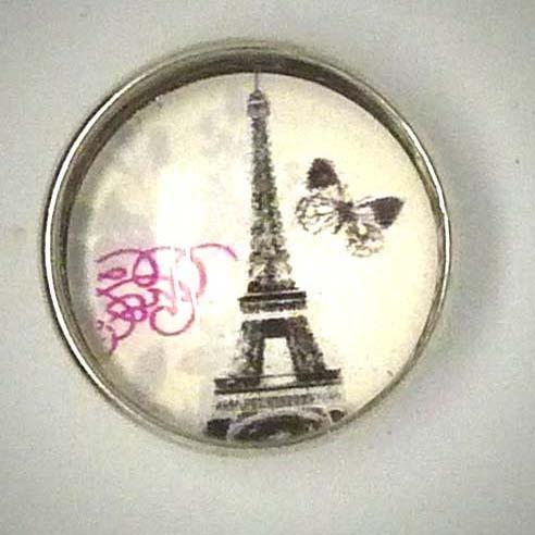 Druckknopf, Paris Motiv, Retro, ca. 18mm