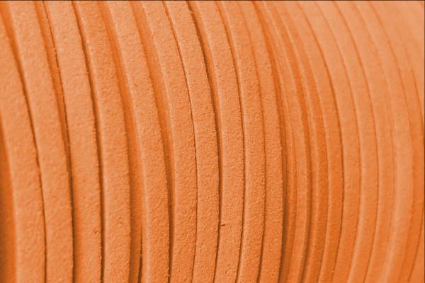 Veloursband in Wildlederoptik, flach, Hell Orange, ca. 3x1.4mm