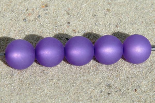 Polaris Kugel, matt, violett, 6mm