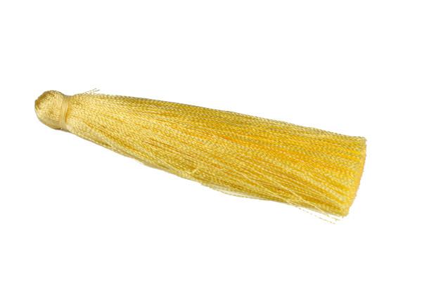 Seidenquaste, groß, gelb, 7cm