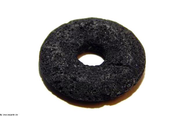 Lava Donut, schwarz, unbehandelt, 30x6mm