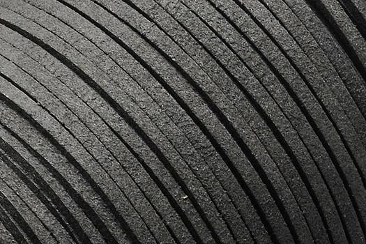 Veloursband in Wildlederoptik, flach, dunkelgrau, ca. 3x1.4mm
