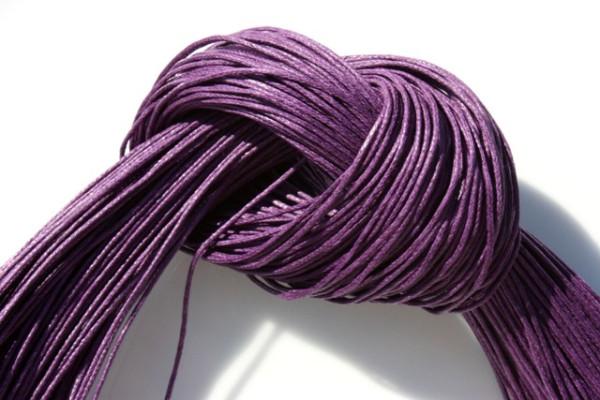 Baumwollband, gewachst, violett, 1.0mm