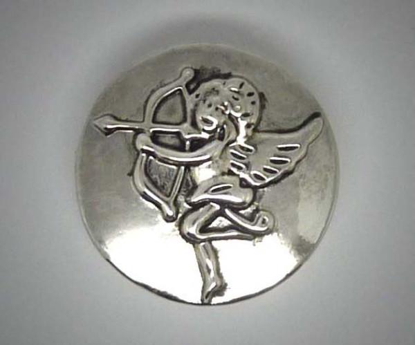 Druckknopf, Engel mit Pfeil und Bogen, 20mm
