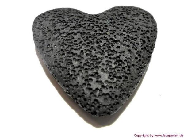 Lava-Herz, schwarz, 50x10mm