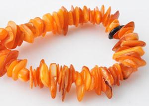 70 Muschelsplitter, orange, 4-18mm