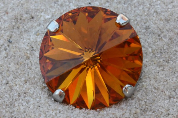 SWAROVSKI® ELEMENTS 1122 - Rivoli im Kessel, Topaz, 14mm