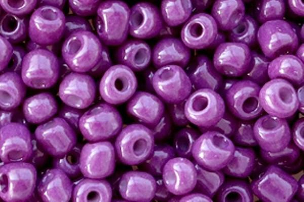 Saatperlen, rund, Purple opaque, 15gr, 6/0, 4mm
