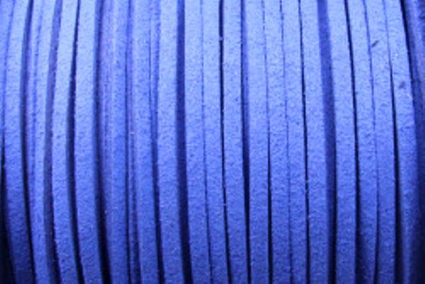 Veloursband in Wildlederoptik, flach, royalblau, ca. 3x1.5mm