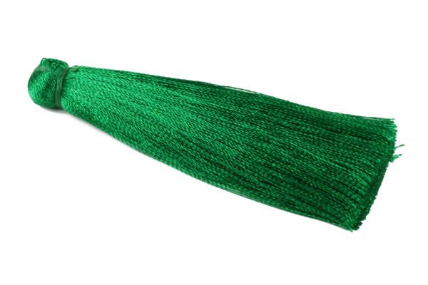 Quaste, Seide, grün, 7cm