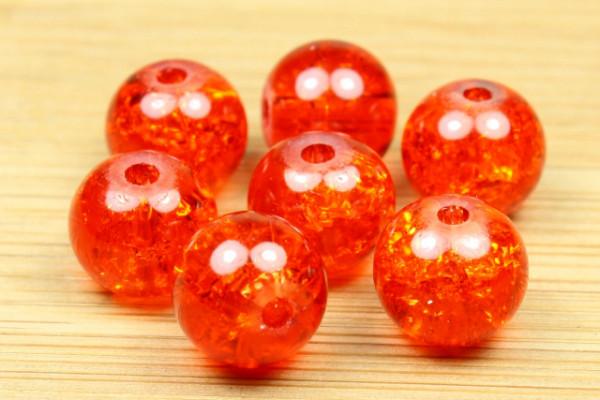 Crashperlen, orange-glow, 8mm
