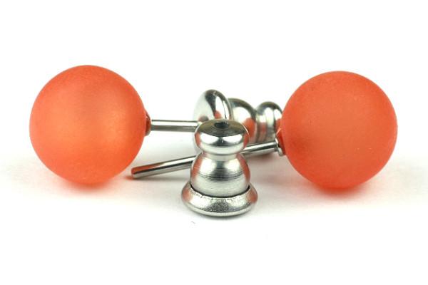 Polaris Ohrstecker, 1 Paar, orange matt, 8mm