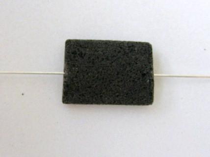 Lava Rechtecke, Strang, schwarz, naturbelassen, 20x15x8mm