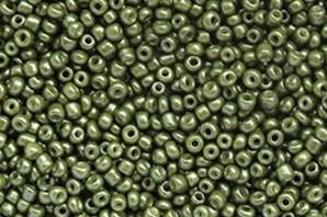 Saatperlen, rund, Moss green, 15gr., 2mm (12/0)