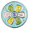 Druckknopf, Blume, bunt, ca. 20mm