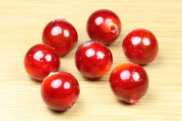 Lampenperle, rund, rot, 12mm