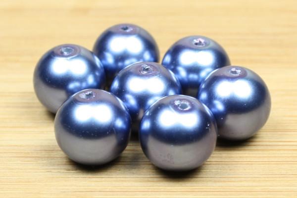 Glaswachsperlen, nachtblau, 10mm