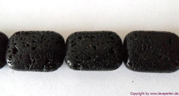 Lava Rechteck, schwarz, geölt und poliert, 25x18x10mm