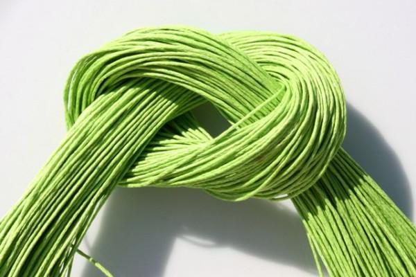 Baumwollband, gewachst, apfelgrün, 1.0mm