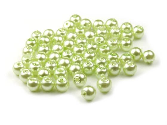 Glaswachsperlen, hellgrün, 4mm