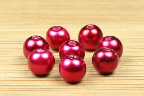 Glaswachsperlen, Crimsonrot, 4mm