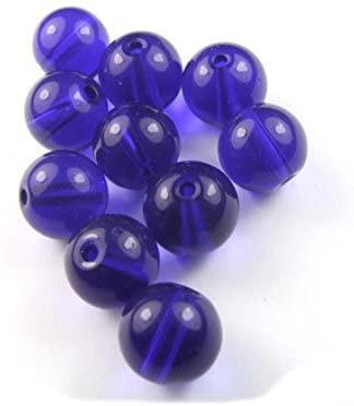Perlen zum Auffädeln, Kristallglas, Dunkelblau, 10mm