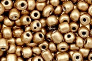 Rocailles, rund, Farbe Metallic light copper gold, 15gr, 6/0, 4mm