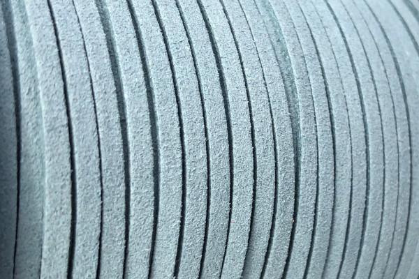 Veloursband in Wildlederoptik, flach, petrol, ca. 3x1.4mm