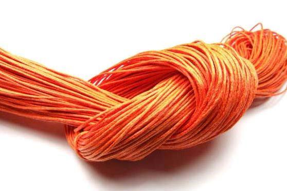 Baumwollband, gewachst, orange, 1.0mm