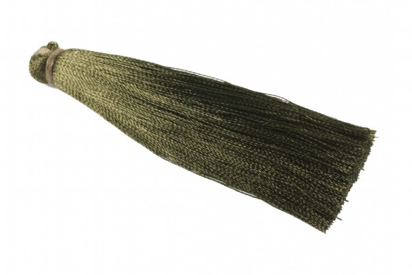 Quaste, Seide, dunkel oliv, 7cm