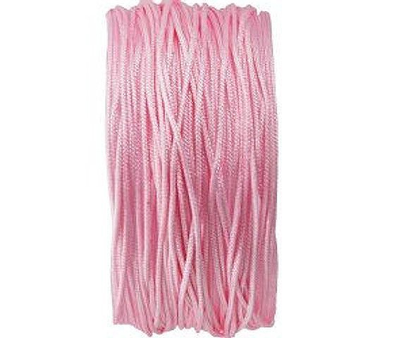 Macramee Band, 25 Meter, rund, rosa, 0.8mm