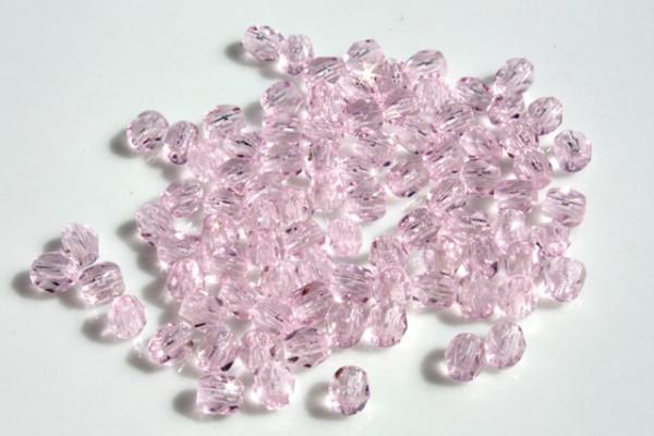 Glasschliffperlen, rose, 4mm, 25 Stück
